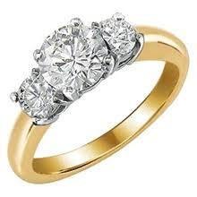 gold diamond rings three diamond rings jewelrycentral