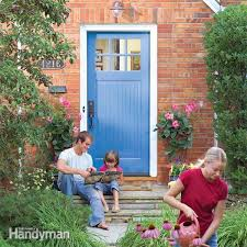 How To Paint A Front Door Without Removing It How To Replace An Exterior Door Family Handyman