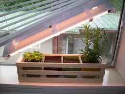 Indoor Herb Pots Window Box - simple indoor herb garden with adjustable grow light 5 steps
