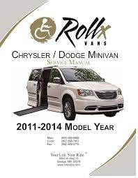 chrysler town u0026 country 2011 service manual