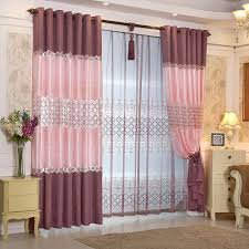 Purple Sheer Curtains Ready Made Window European Luxury Embroidered Voile Curtain Sheer