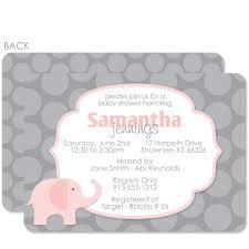 pink u0026 grey elephant baby shower invitation u2013 pipsy