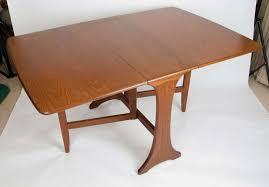 plan dining table drop leaf solid teak makers label circa cradle