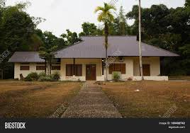 traditional indonesian house in dutch colonial style in tanjung
