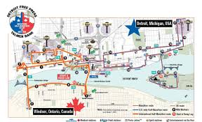 Austin Marathon Map by Detroit Marathon Map Map Of Detroit Marathon Michigan Usa