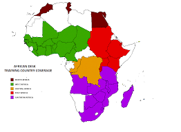 Map Of Africa Countries Climate Prediction Center African Desk Participating Countries