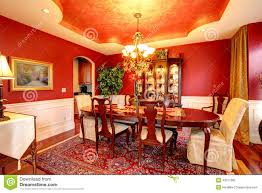 bright red paint for walls luxury dining room in bright red color stock photo image 43517982