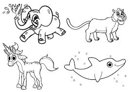 mophle my cute animals all in one a4 free and printable coloring