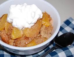 crock pot peach cobbler cooking mamas