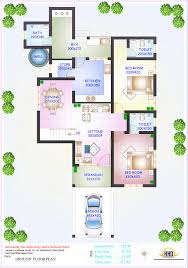 Floor Plan Of Two Bedroom House by 3 Bedroom House Plan And Elevation U2013 Home Ideas Decor