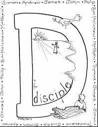 jesus 12 disciples coloring pages