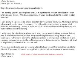 21 remarkable cover letter for retail assistant resume sample no
