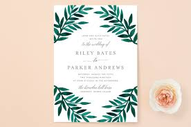 wedding invitations greenery painted greenery wedding invitations by katharine watson minted