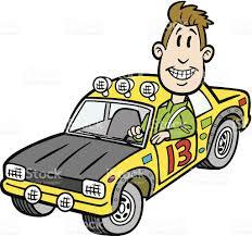 cartoon rally car driver stock vector art 455589169 istock