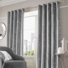 Curtains Ring Top Home Crushed Velvet Curtains Pair Eyelet Ring Top Fully