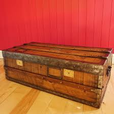 vintage french steamer trunk coffee table