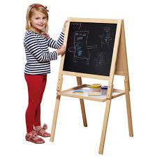 kids easel chalk drawing board double sided age 3 childrens paw