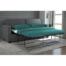 Sleeper Sofa Memory Foam Mattress by Signature Sleep Casey Grey Velvet Queen Size Sleeper Sofa With