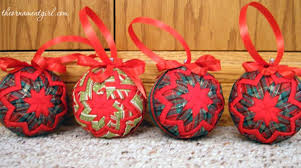 quilted christmas no sew quilted christmas ornament