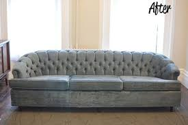 how to get rid of old sofa before after a couch update that cost 0 furniture makeover