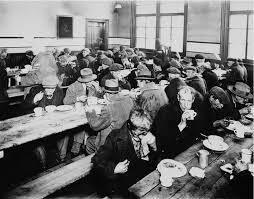 Soup Kitchen Urban Dictionary - great depression a picture of a busy soup kitchen during the