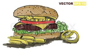 sketch burger vector illustration stock vector colourbox