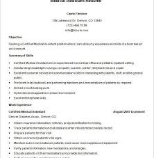crazy medical resume templates 4 medical assistant resume template