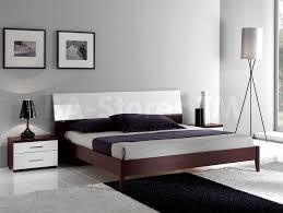 furniture minimalist flat king platform bed frame with headboard