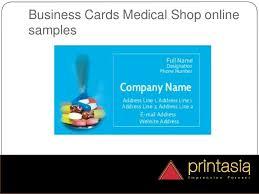 Medical Business Card Design Medical Shop Visiting Card Samples Online Printasia