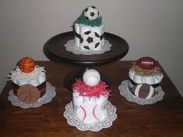 Baby Boy Shower Centerpiece by Sports Diaper Cake Baseball Soccer Basketball Football Baby