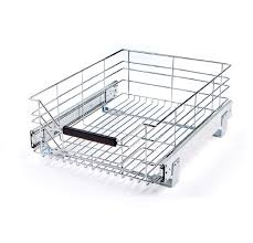 amazon com seville classics chrome wire sliding storage drawer 2