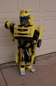 homemade transforming bumblebee transformer halloween costume