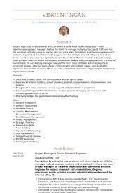 Senior Project Manager Resume Example by Senior Network Engineer Resume Samples Visualcv Resume Samples