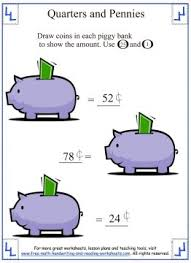 counting money worksheets quarters