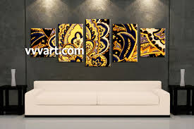 5 piece yellow abstract home decor multi panel canvas living room art 5 piece canvas wall art abstract photo canvas abstract artwork