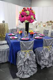 fuschia pink table cloth royal blue sequin linens sequins blue tablecloth and weddings
