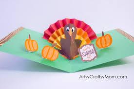 diy thanksgiving turkey pop up card artsy craftsy