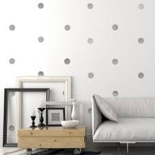 30 gold or silver metallic 4 inch dots vinyl wall decals