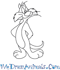 draw sylvester looney tunes