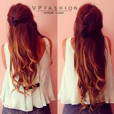 vpfashion ombre hair extensions wavy two tone ombre indian remy clip in hair extension usw152