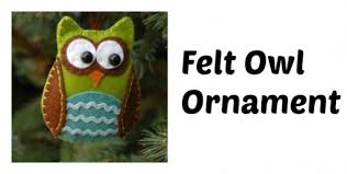 free pattern felt owl ornament sewing