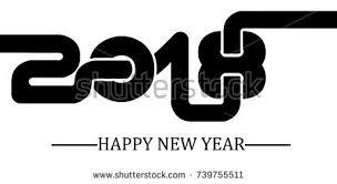 2018 happy new year background shadow stock illustration 729881371