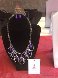 purple stone necklace images Paparazzi jewelry purple stone necklace with silver chain jewelry jpg