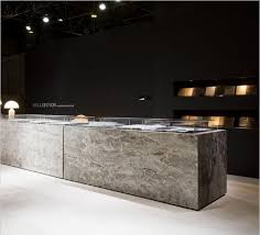 Stone Reception Desk Hullebusch At Interieur Kortrijk 2012 Natural Stone Cafe Au Lait
