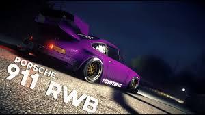 porsche rwb purple porsche 911 rwb need for speed 2016 short youtube