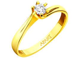 apart pierscionki zareczynowe pierścionek z żółtego złota z brylantem wzór 100 300 apart