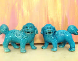 turquoise foo dogs for sale knick knacks curated by pmq for two on etsy
