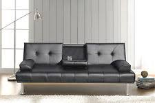 Black Leather Sofa Bed Leather Double Sofa Beds Centerfieldbar Com