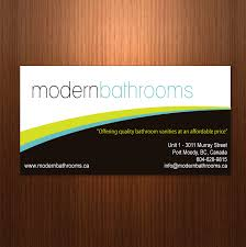 business card design contests modernbathrooms ca image