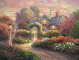 rosebud cottage limited edition the kinkade company